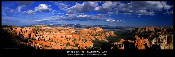 Bryce Canyon Sunset Panoramic Photo by Jim M. Goldstein