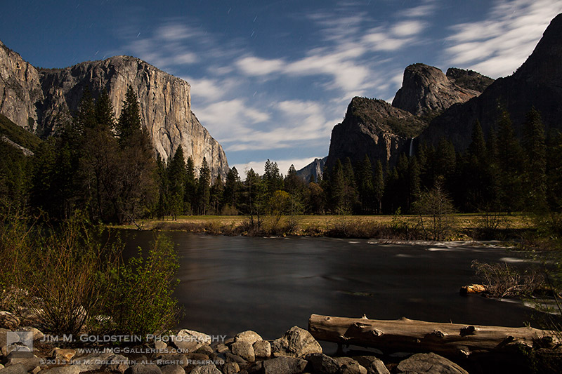 Gates of the Valley By Moonlight, Yosemite