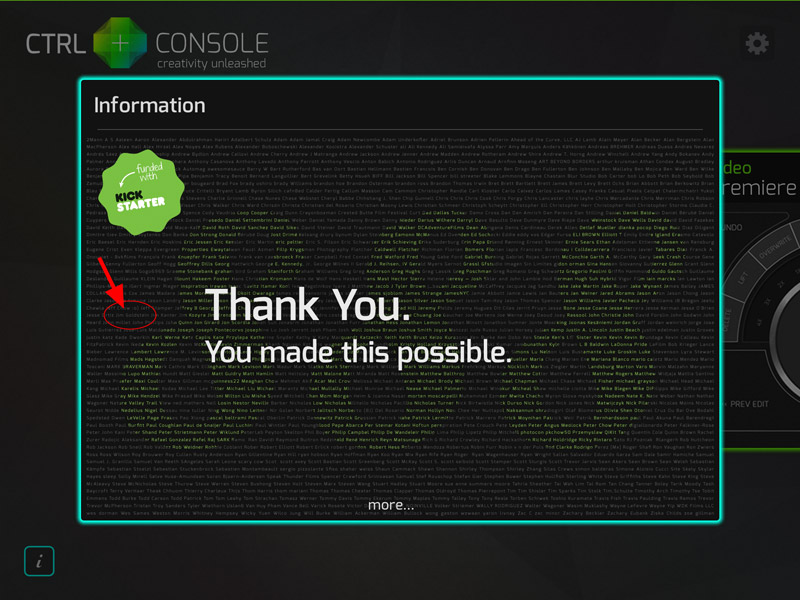 CTRL+Console - Thank You Page, That's Me