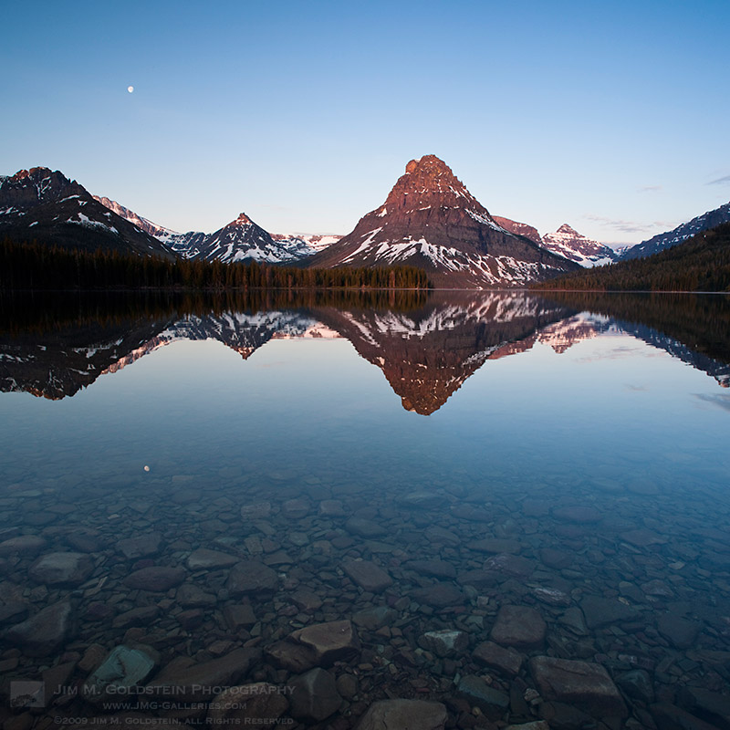 Sinopah Mountain Reflected in Two Medicine Lake at Sunrise II