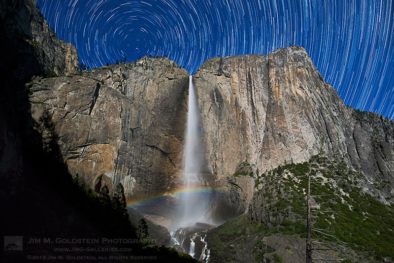 Yosemite Falls Moonbow & Star Trails