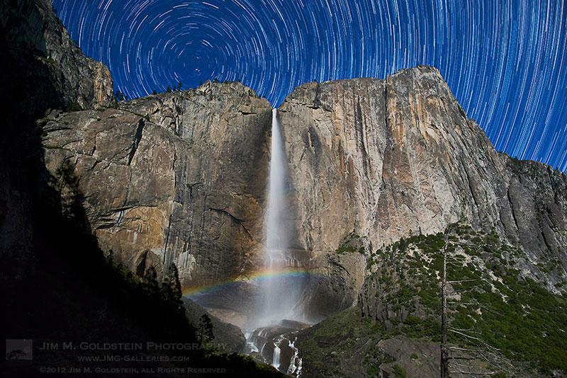 Yosemite Falls Moonbow & Star Trails