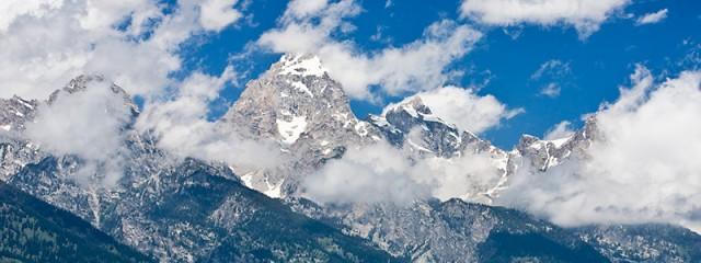 Grand Teton Peak in the Clouds