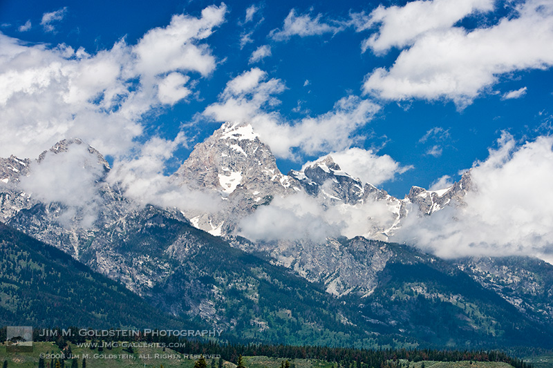 Grand Teton Peak in the Clouds