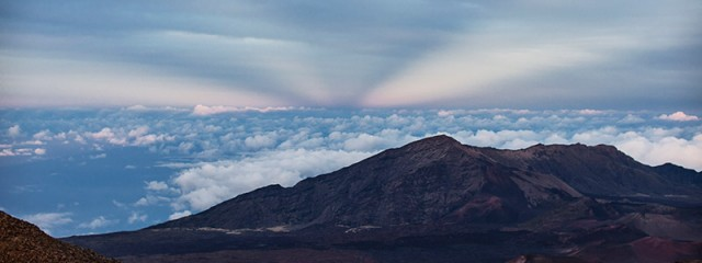 Haleakala anti-crepuscular rays
