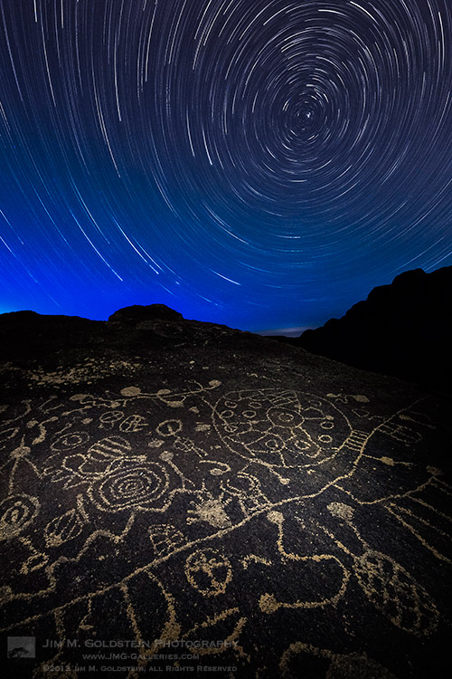 Celestial Influences: Petroglyphs and Star Trails