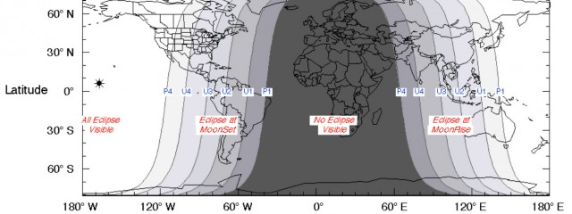 October 8th 2014 Lunar Eclipse Map
