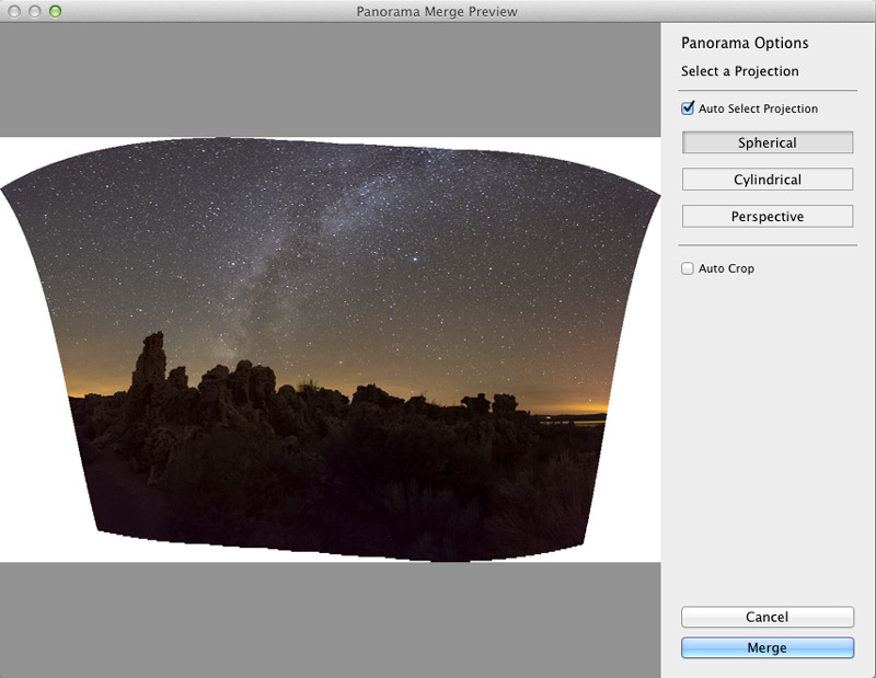 Lightroom CC Pano Preview