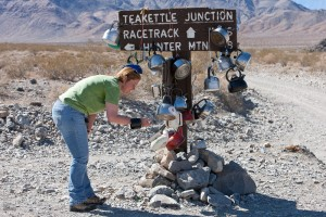 Rebecca at Tea Kettle Junction, Death Valley National Park