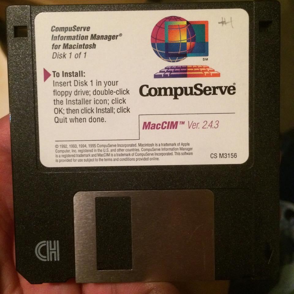 Compuserve Internet Access disk