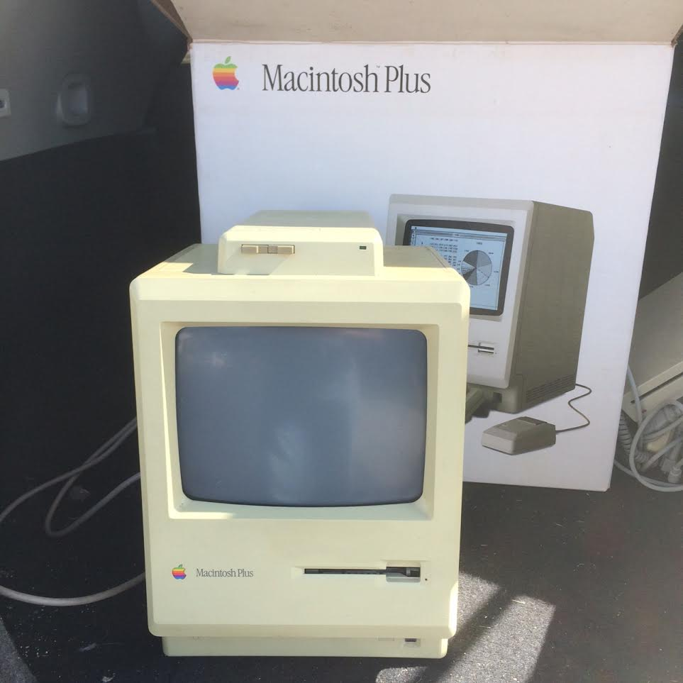 My first computer the Macintosh Plus (circa 1986)