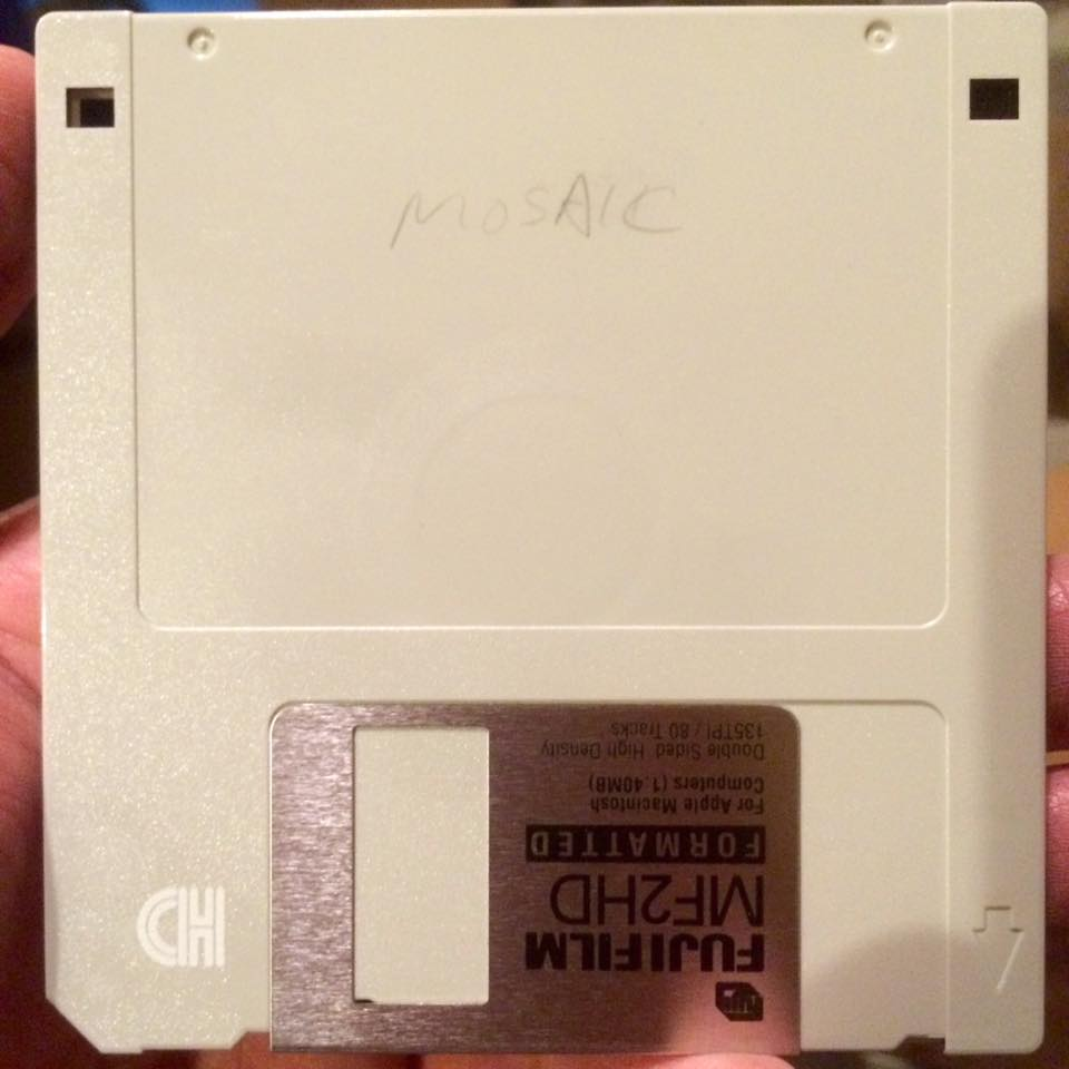 Mosaic - the first web browser backup floppy disk