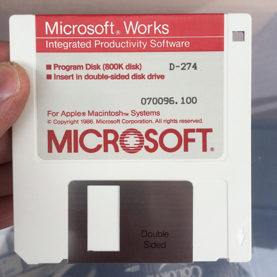 Microsoft Works Install Disk circa 1986
