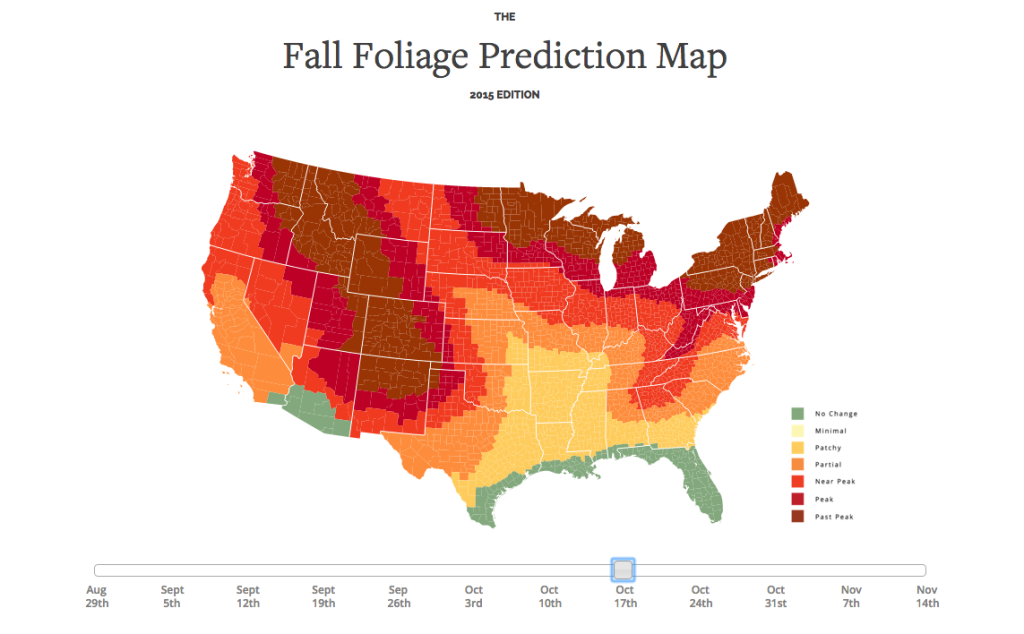 fall foliage prediction - interactive map