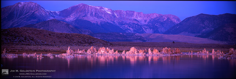 Early morning light falls on tufas at Mono Lake County Park/State Natural Reserve