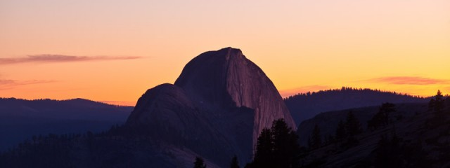 Half Dome Sunset from Olmstead Point, Yosemite