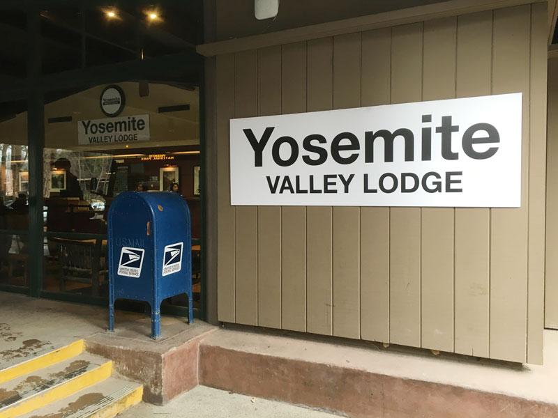 Yosemite Valley Lodge Sign