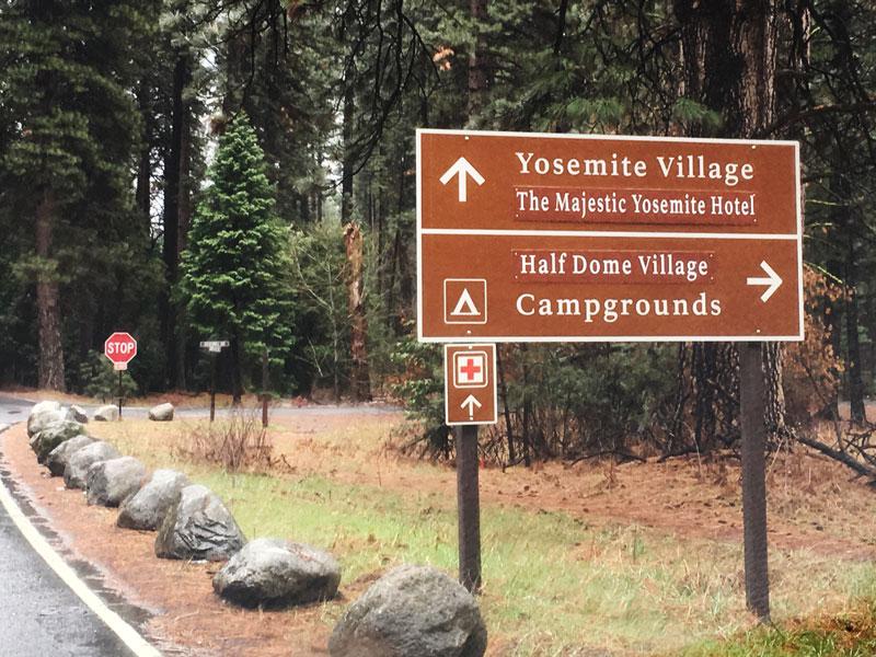 New Roadsigns in Yosemite Valley