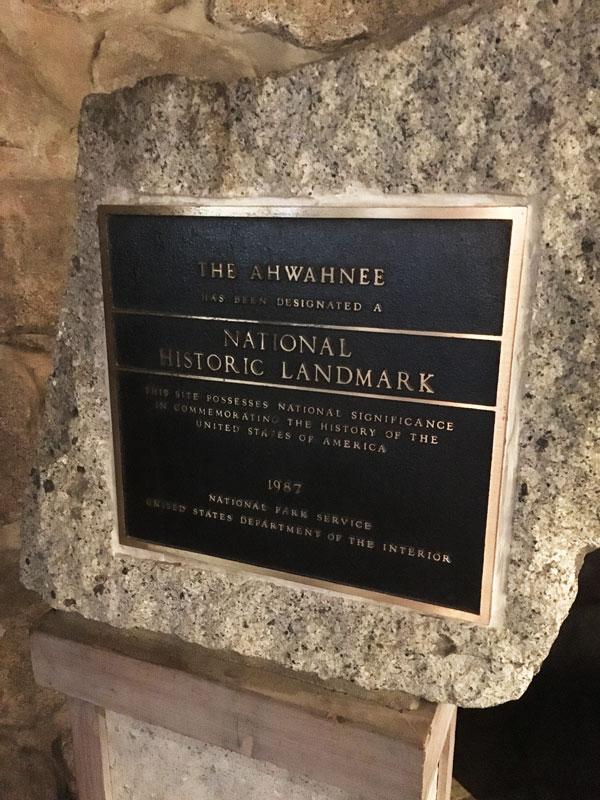 The Ahwahnee National Historical Landmark  Placard