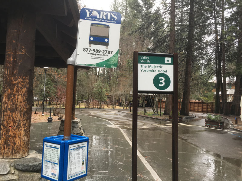 The Majestic Yosemite Hotel Bus Stop