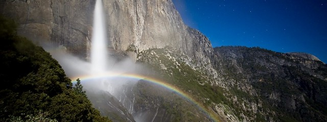 Upper Yosemite Falls Moonbow - May 9 2017