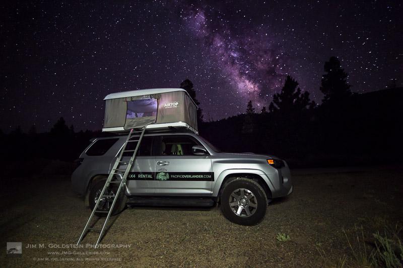 PacificOverlander.com Truck Under the Milkyway