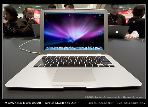 MacWorld Expo MacBook Air Front View