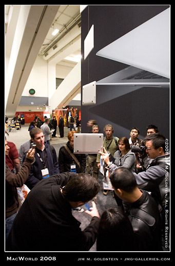 MacWorld Expo MacBook Air Display and Crowd