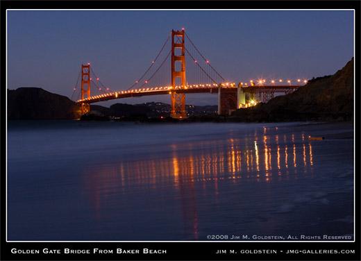 Golden Gate Bridge From Baker Beach photo by Jim M. Goldstein