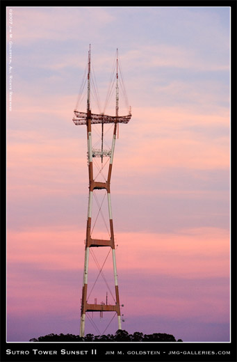 Sutro Tower Sunset II photo by Jim M. Goldstein