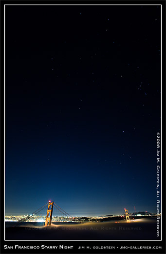 San Francisco Starry Night photo by Jim M. Goldstein