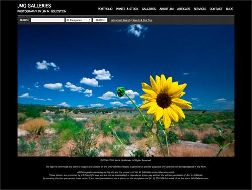 New JMG-Galleries Web Site & Design