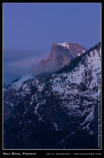 Half Dome, Yosemite landscape photo by Jim M. Goldstein