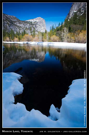 Mirror Lake, Yosemite National Park landscape photo by Jim M. Goldstein