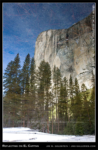 Reflecting on El Capitan, Yosemite