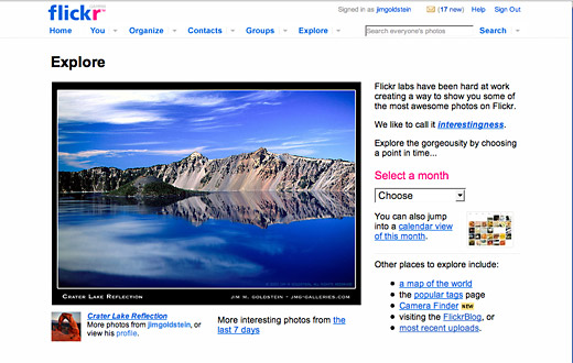 Flickr Explore - Crater Lake landscape photo by Jim M. Goldstein