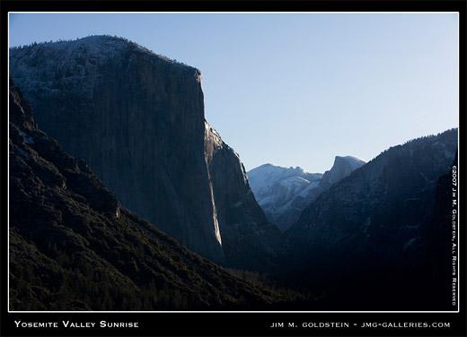 Yosemite Sunrise landscape photo by Jim M. Goldstein, stock photo
