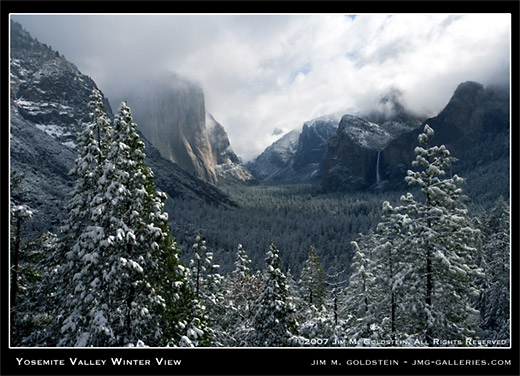 Yosemite Valley Winter View landscape photo by Jim M. Goldstein