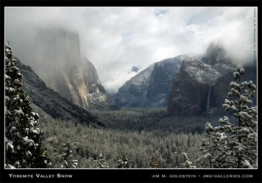 Yosemite Valley Snow landscape photo by Jim M. Goldstein