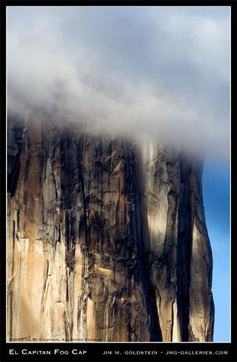 El Capitan Fog Cap photo by Jim M. Goldstein