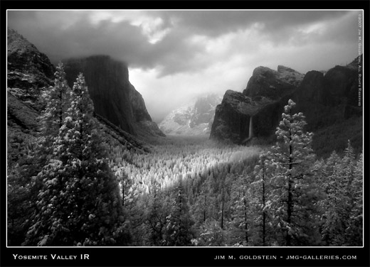 Yosemite Valley IR landscape photo by Jim M. Goldstein
