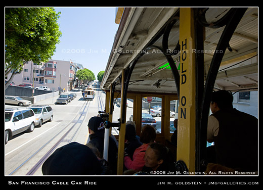 San Francisco Cable Car Ride photo by Jim M. Goldstein