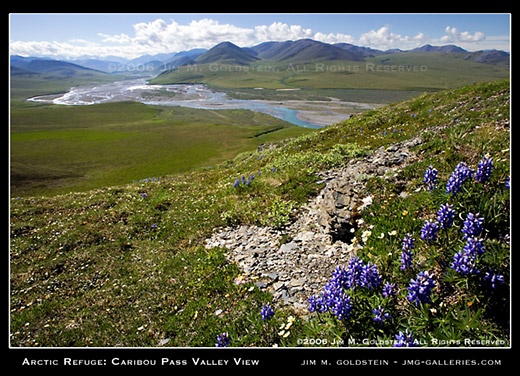 Arctic Refuge: Caribou Pass Valley View landscape photo by Jim M. Goldstein