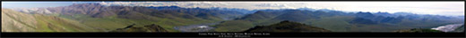 Arctic National Wildlife Refuge - Caribou Pass View To The South Panoramic