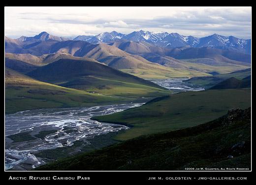 Arctic Refuge: Caribou Pass landscape photo by Jim M. Goldstein