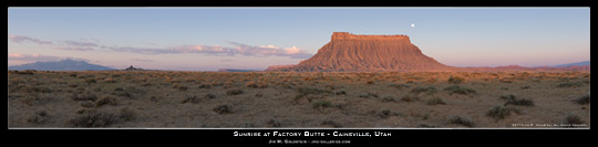Sunrise at Factory Butte - Caineville Utah