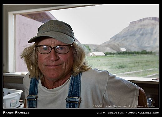 Randy Ramsley Environmental Portrait by Jim M. Goldstein