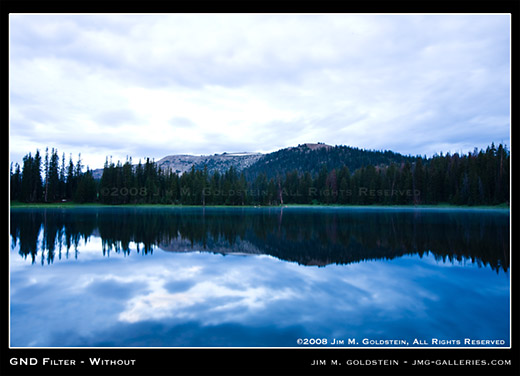 Example image not using a Graduated Neutral Density filter