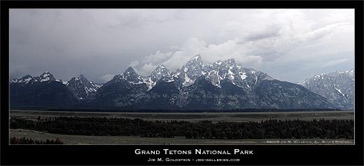Grand Teton National Park panoramic photo by Jim M. Goldstein