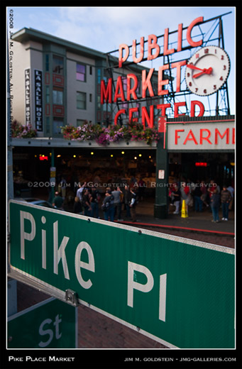 Pikes Place Market - Seattle Washington travel photo by Jim M. Goldstein